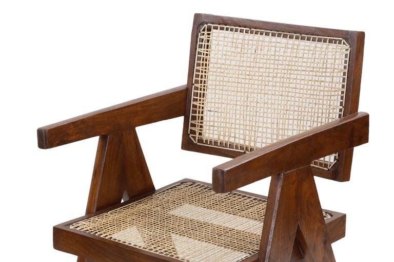 Pierre Jeanneret Office Cane Chair PJ-SI-28-A 'Authentic' 3