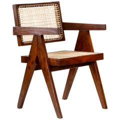 Pierre Jeanneret Office Cane Chair PJ-SI-28-A 'Authentic'
