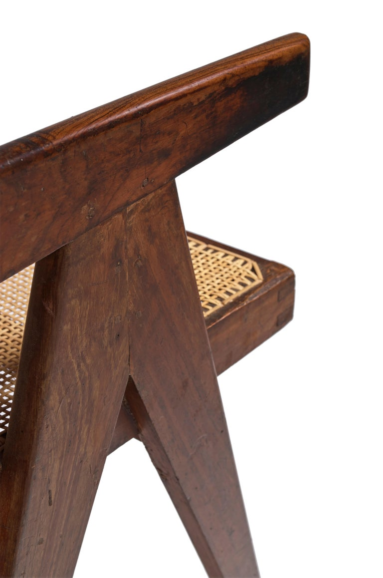 Mid-20th Century Pierre Jeanneret, Office Cane Chair, PJ-SI-28-B, circa 1955 For Sale