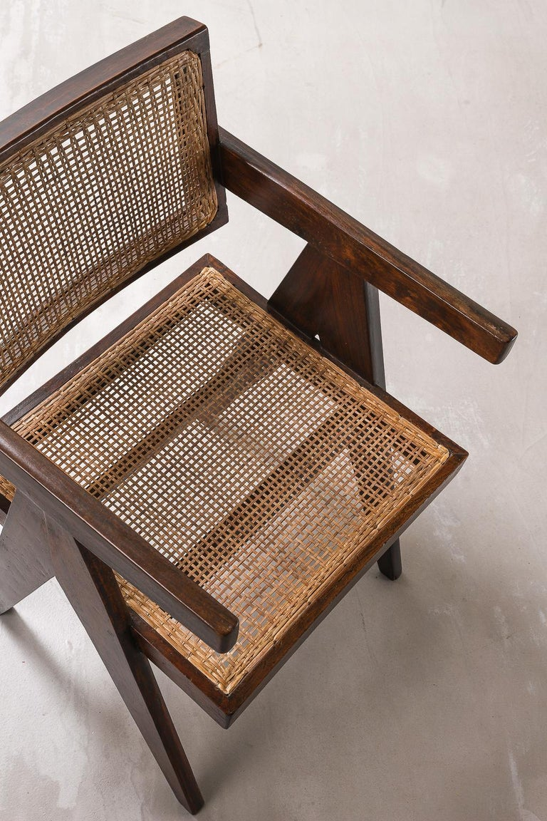 Pierre Jeanneret Office Chair Chandigarh, India: Model PJ-SI-28-A, 1950s For Sale 4
