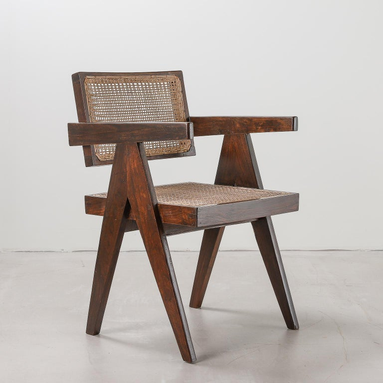 Pierre Jeanneret 'Office' chair 1950s India: Model PJ-SI-28-A, 1950s. Designed for the Architects Office, Secrétariat, and administrative buildings, Chandigarh