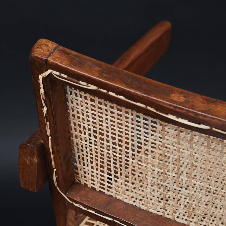 Indian Pierre Jeanneret Office Chair For Sale
