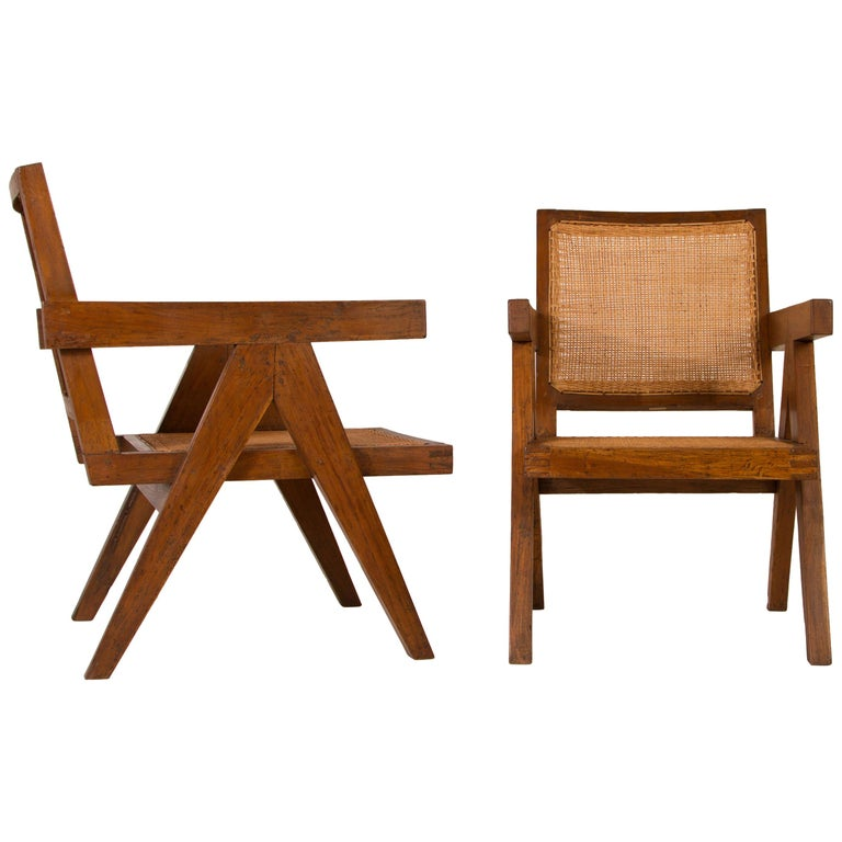 """Pierre Jeanneret Pair of """"Easy""""  Armchairs Chairs, Circa 1956 For Sale"""
