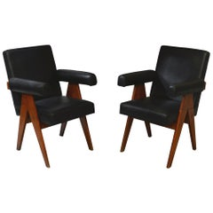 Pierre Jeanneret Pair of Senate Committee Chairs