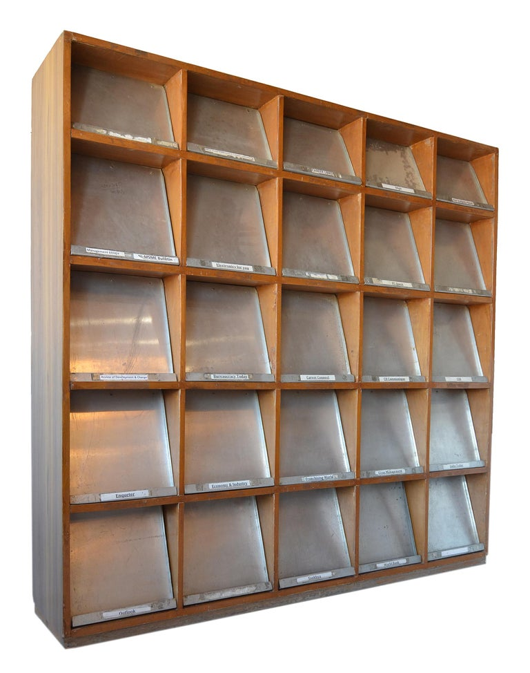 Mid-Century Modern Pierre Jeanneret Periodical Bookcase