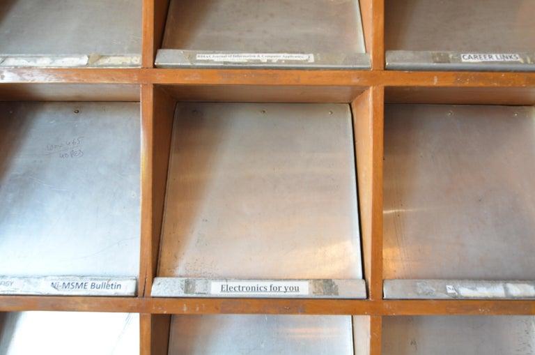 Aluminum Pierre Jeanneret Periodical Bookcase