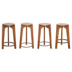 Pierre Jeanneret PJ-SI-22-A Stools 1965-1967 / Authentic Mid-Century Modern