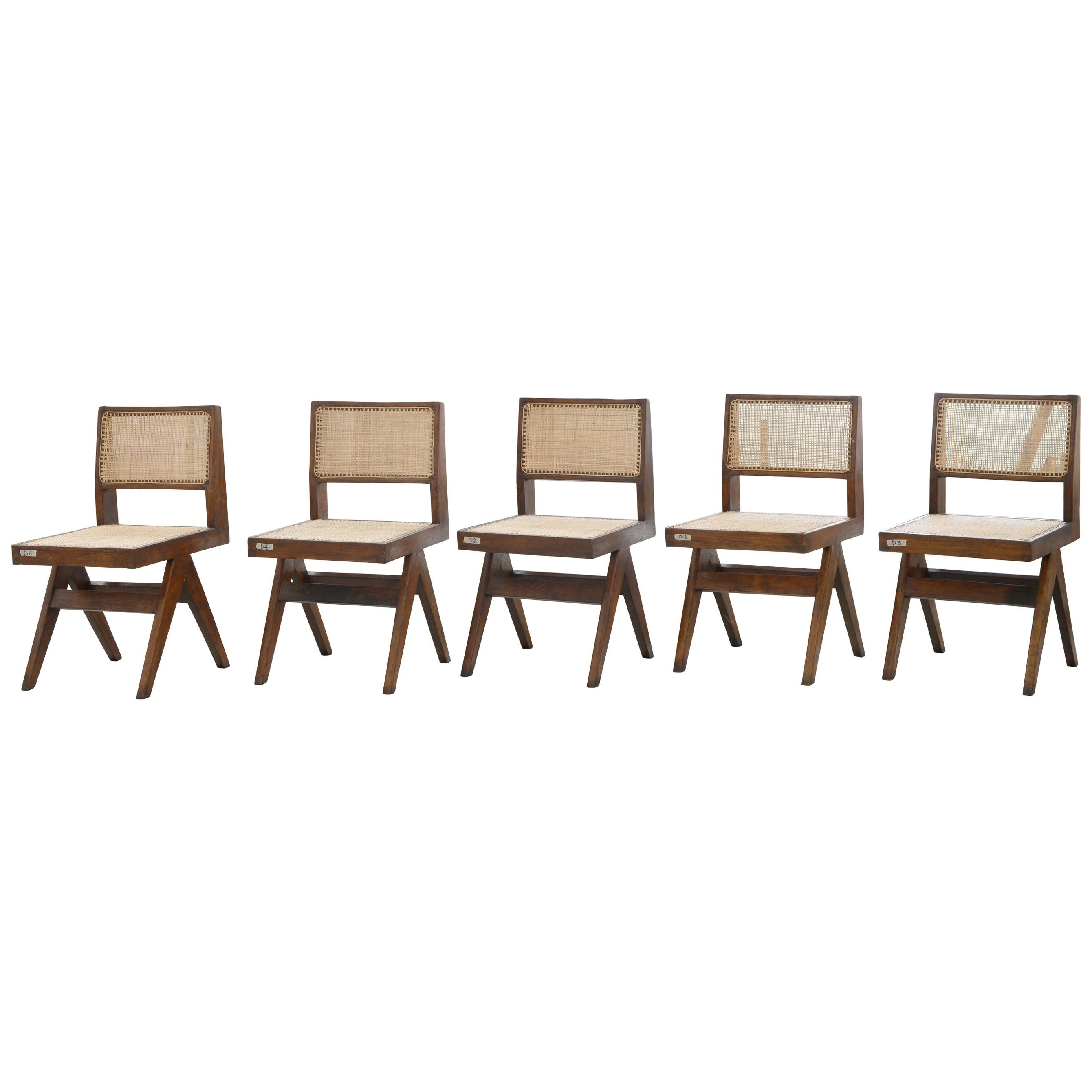 Pierre Jeanneret PJ-SI-25-A Set of 8 Chairs | Authentic Mid-Century Modern