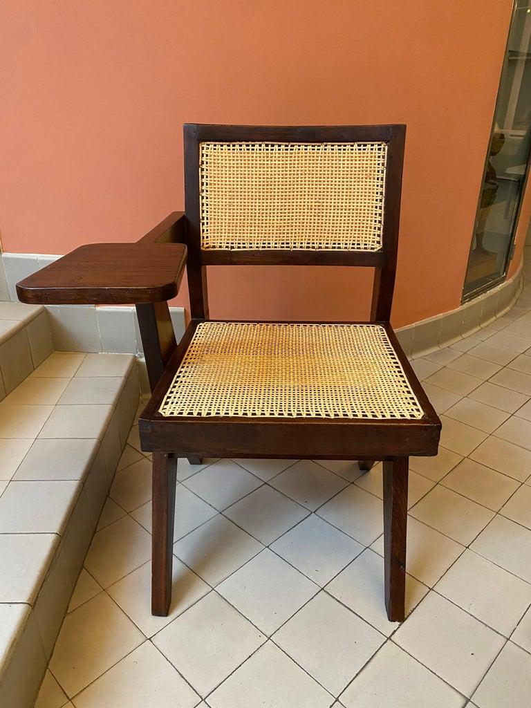Indian Pierre Jeanneret, PJ-SI-26-E, Writing Chair For Sale