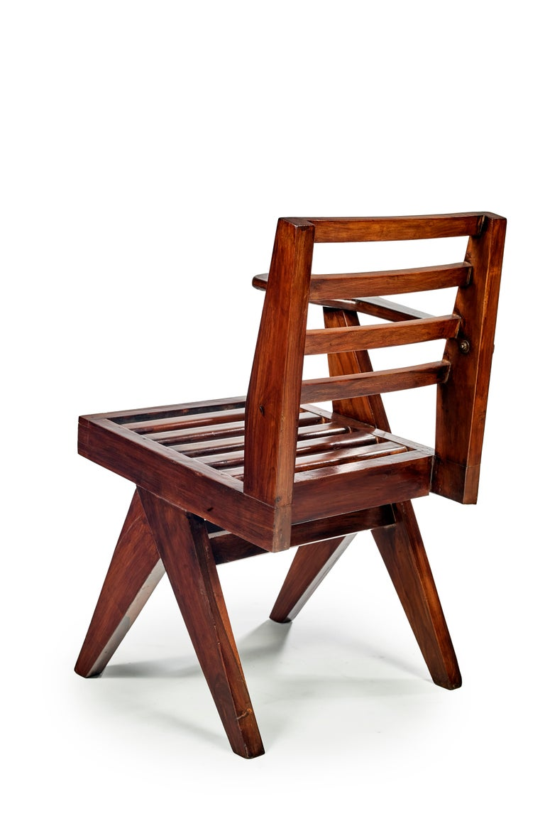 Pierre Jeanneret, PJ-SI-26-G, Writing Chair In Good Condition For Sale In Paris, FR
