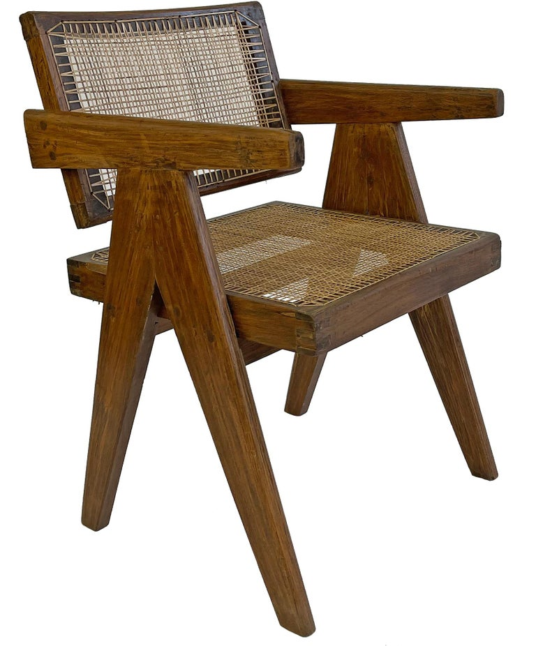 Pierre Jeanneret PJ-SI-28-A Dining Chairs Set of 10 in Teak For Sale 4
