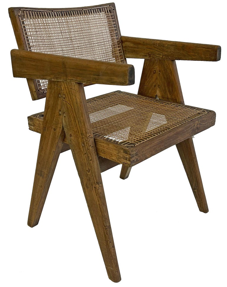 Pierre Jeanneret PJ-SI-28-A Dining Chairs Set of 10 in Teak For Sale 5