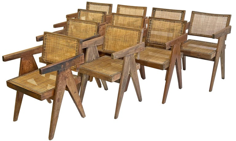 A very nice true matched set of Pierre Jeanneret PJ-SI-28-A