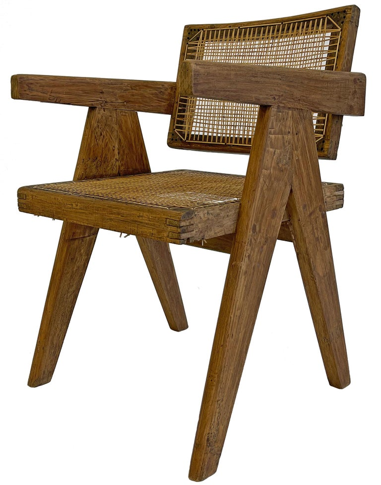 Mid-20th Century Pierre Jeanneret PJ-SI-28-A Dining Chairs Set of 10 in Teak For Sale