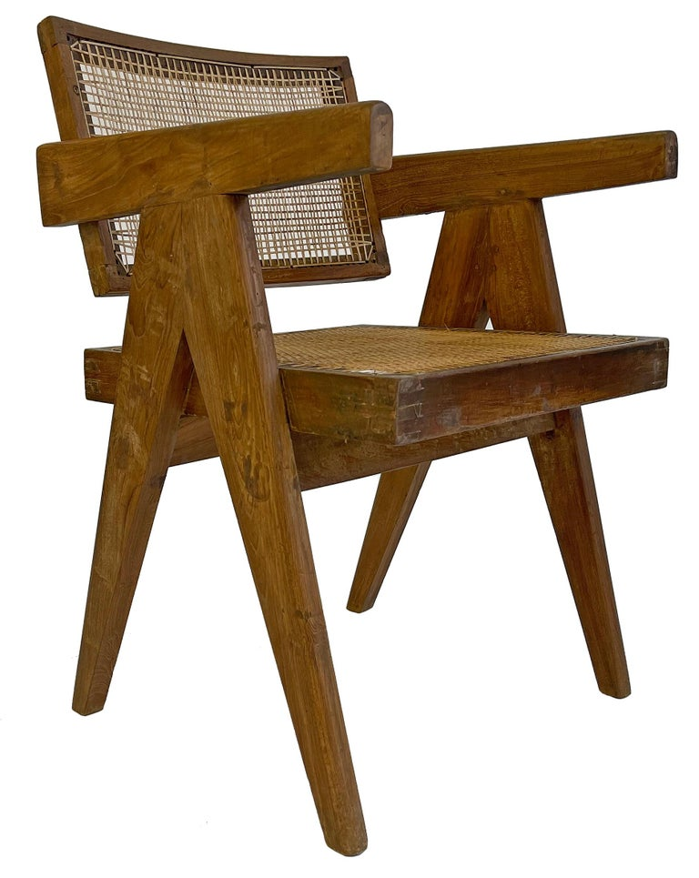 Pierre Jeanneret PJ-SI-28-A Dining Chairs Set of 10 in Teak For Sale 1