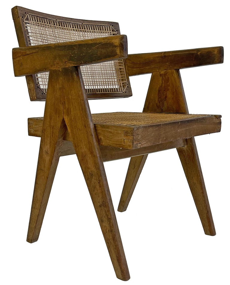 Pierre Jeanneret PJ-SI-28-A Dining Chairs Set of 10 in Teak For Sale 2