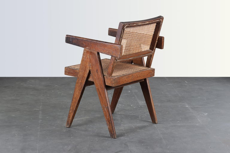 Pierre Jeanneret Office Cane Chair  Authentic Mid-Century Modern PJ-SI-28-B  In Good Condition In Dietikon, CH