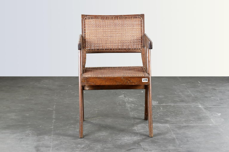 Pierre Jeanneret Office Cane Chair  Authentic Mid-Century Modern PJ-SI-28-B  1