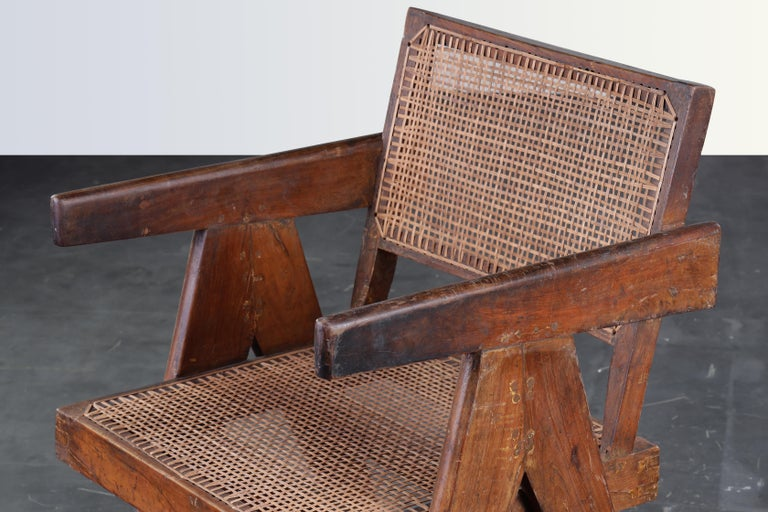 Pierre Jeanneret Office Cane Chair  Authentic Mid-Century Modern PJ-SI-28-B  3