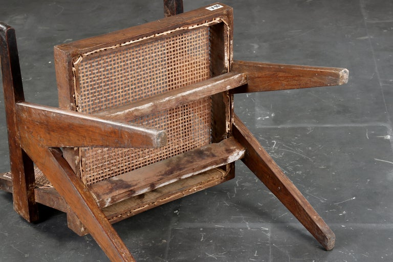 Pierre Jeanneret Office Cane Chair  Authentic Mid-Century Modern PJ-SI-28-B  4