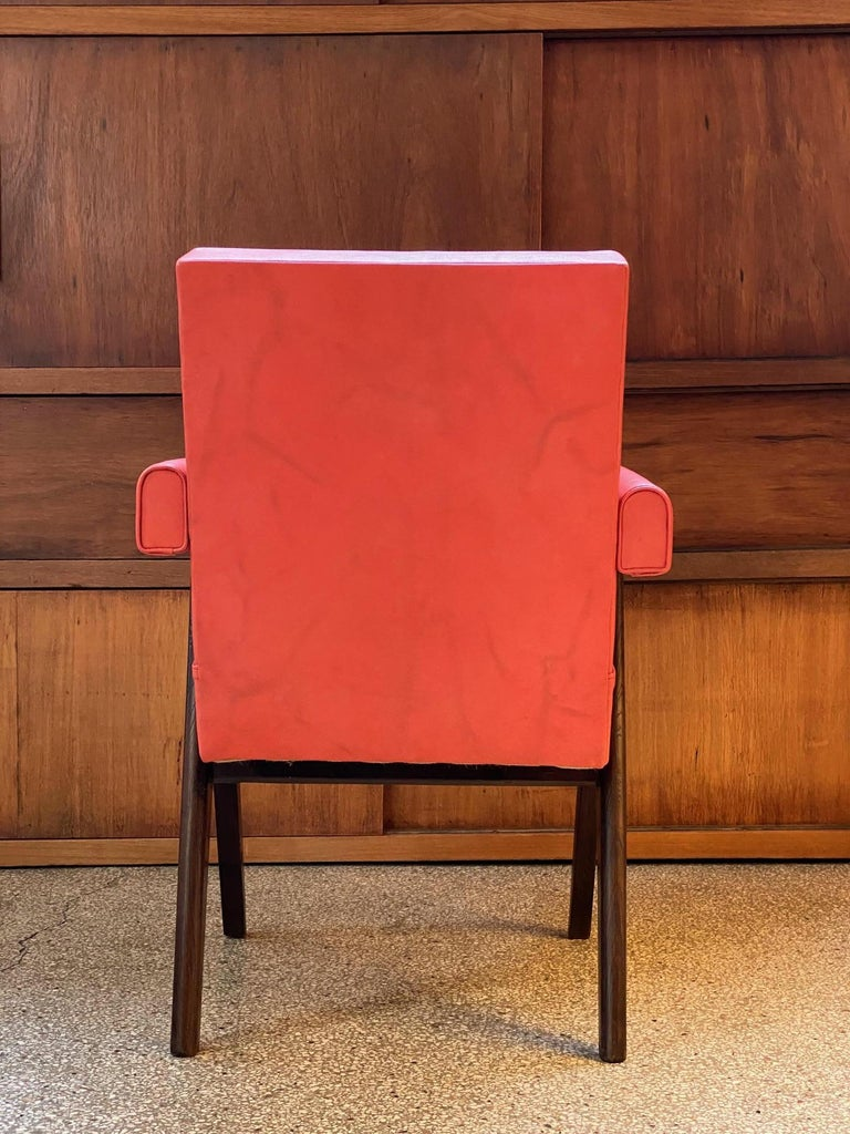 Indian Pierre Jeanneret, PJ-SI-30-A, Committee Armchair, Chandigarh, circa 1955 For Sale