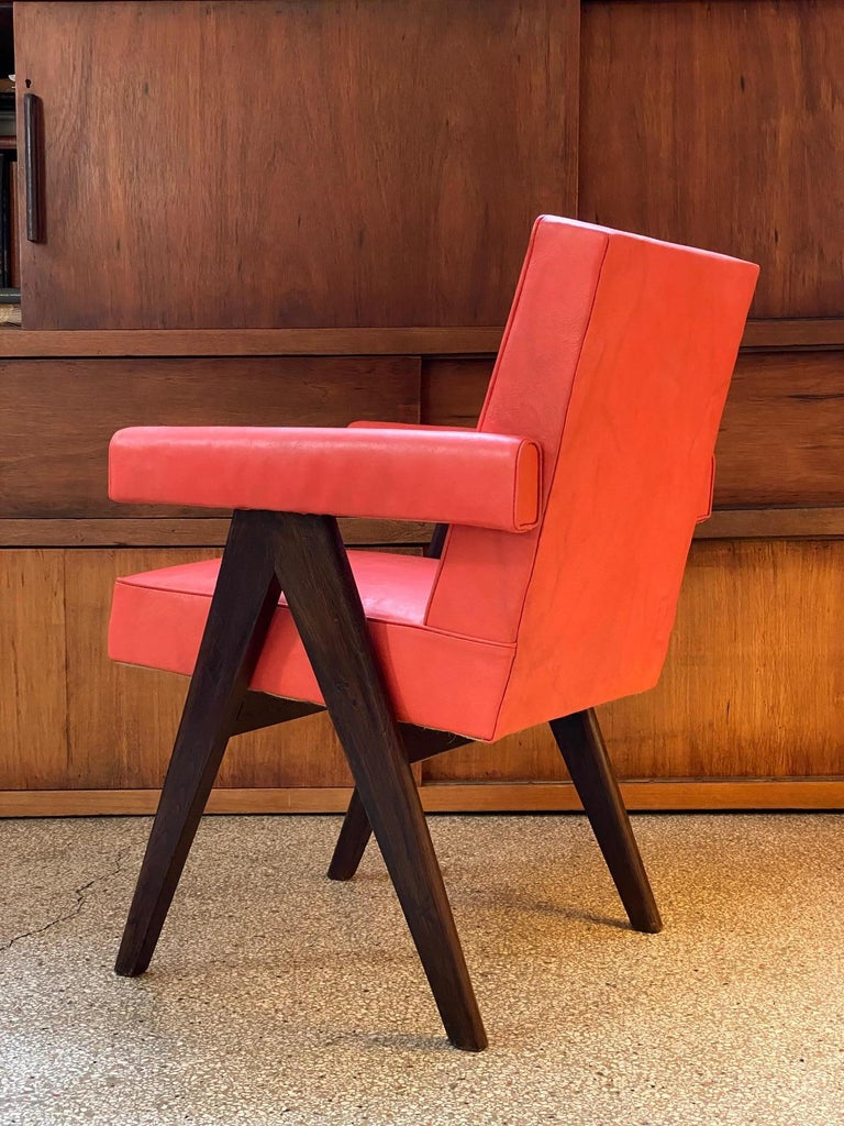 Pierre Jeanneret, PJ-SI-30-A, Committee Armchair, Chandigarh, circa 1955 In Good Condition For Sale In Paris, FR