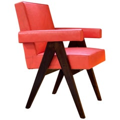 Pierre Jeanneret, PJ-SI-30-A, Committee Armchair, Chandigarh, circa 1955