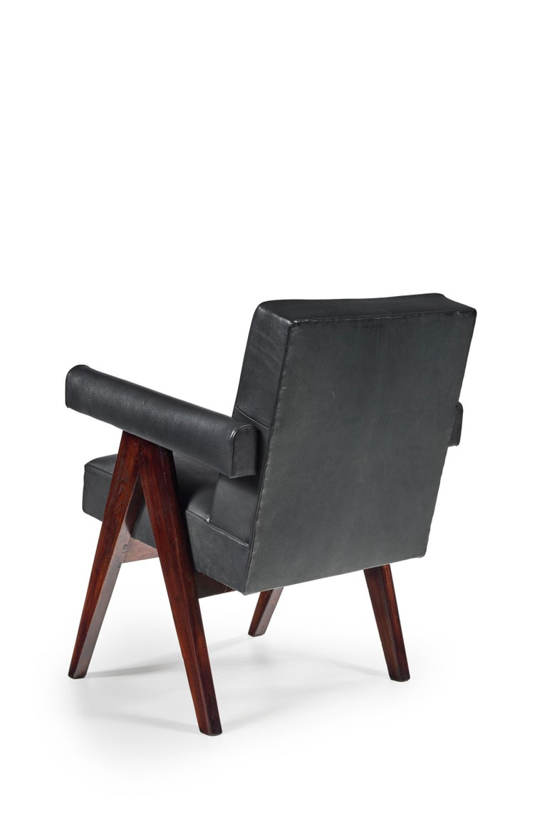 Indian Pierre Jeanneret, PJ-SI-30-D, Committee Armchair, Chandigarh, circa 1955 For Sale