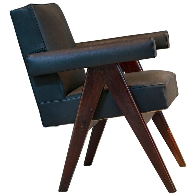Pierre Jeanneret, PJ-SI-30-D, Committee Armchair, Chandigarh, circa 1955 For Sale