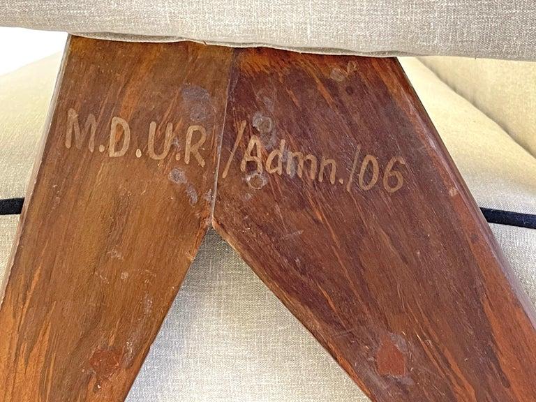 Pierre Jeanneret PJ-SI-32-B Upholstered Sofa For Sale 3