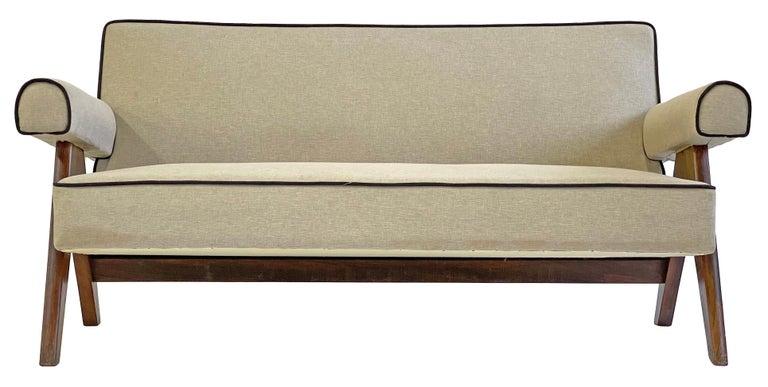 Pierre Jeanneret PJ-SI-32-B Upholstered Sofa For Sale 5