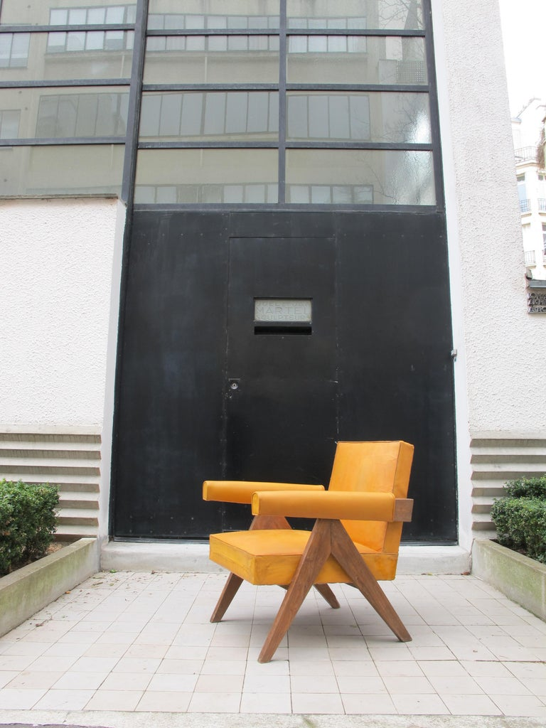 Indian Pierre Jeanneret, PJ-SI-32-C, Armchair, Chandigarh, circa 1955 For Sale