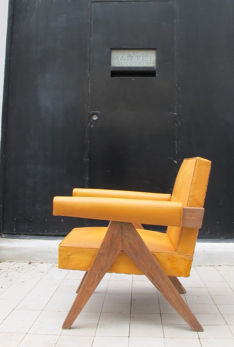 Pierre Jeanneret, PJ-SI-32-C, Armchair, Chandigarh, circa 1955 In Good Condition For Sale In Paris, FR