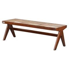 Pierre Jeanneret Cane Bench | Authentic Mid-Century Modern Chandigarh PJ-SI-33-C