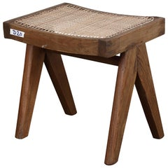 Pierre Jeanneret PJ-SI-34-A Authentic A-Legs Stool