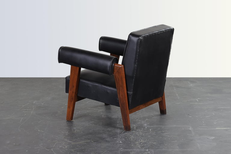 Pierre Jeanneret Bridge Chair  Authentic Mid-Century Modern PJ-SI-42-A  In Good Condition For Sale In Dietikon, CH