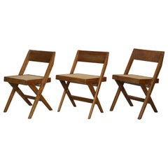 Pierre Jeanneret PJ-SI-51-A Chairs 1960- 1967 / Authentic Mid-Century Modern
