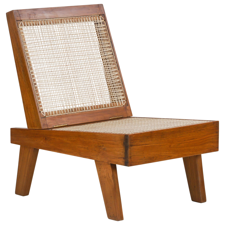 Pierre Jeanneret Rare Folding Lounge Chair / Authentic Mid-Century PJ-SI-61-A