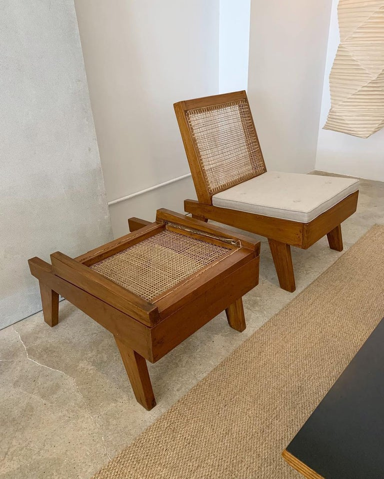 Mid-Century Modern Pierre Jeanneret Rare Folding Easy Chairs from Chandigarh, circa 1960 For Sale