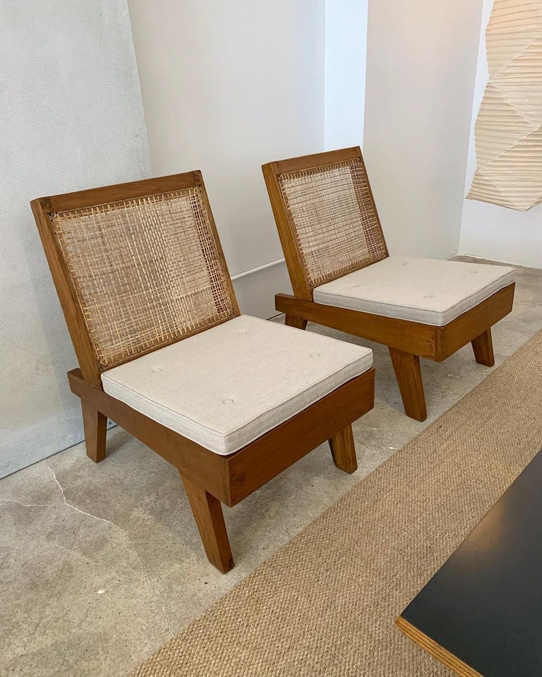 Indian Pierre Jeanneret Rare Folding Easy Chairs from Chandigarh, circa 1960 For Sale