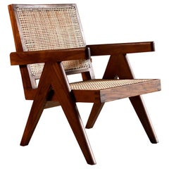 Pierre Jeanneret Rosewood Low Easy Armchair Model PJ-SI-29-A, circa 1955