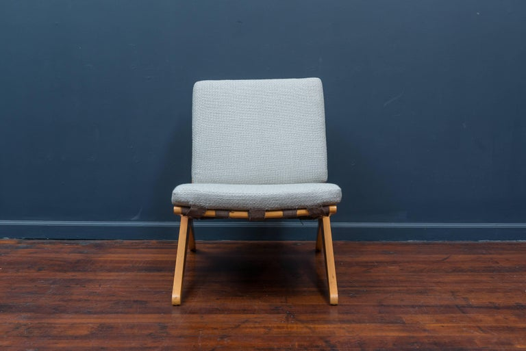 Pierre Jeanneret Scissor Chair For Knoll International