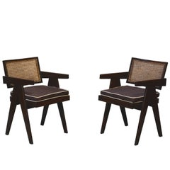 Pierre Jeanneret Set of Two Office Chairs