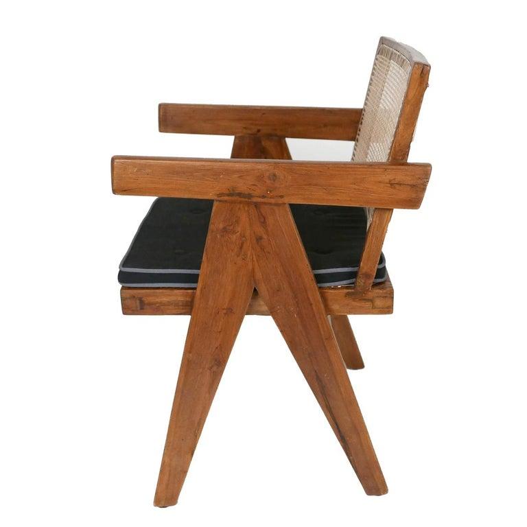 Mid-Century Modern Pierre Jeanneret Set of Six Armchairs, Model PJ-SI-28-B For Sale