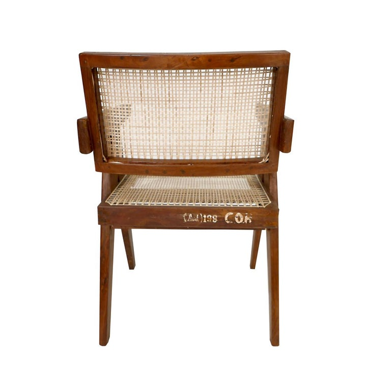 Mid-20th Century Pierre Jeanneret Set of Six Armchairs, Model PJ-SI-28-B For Sale