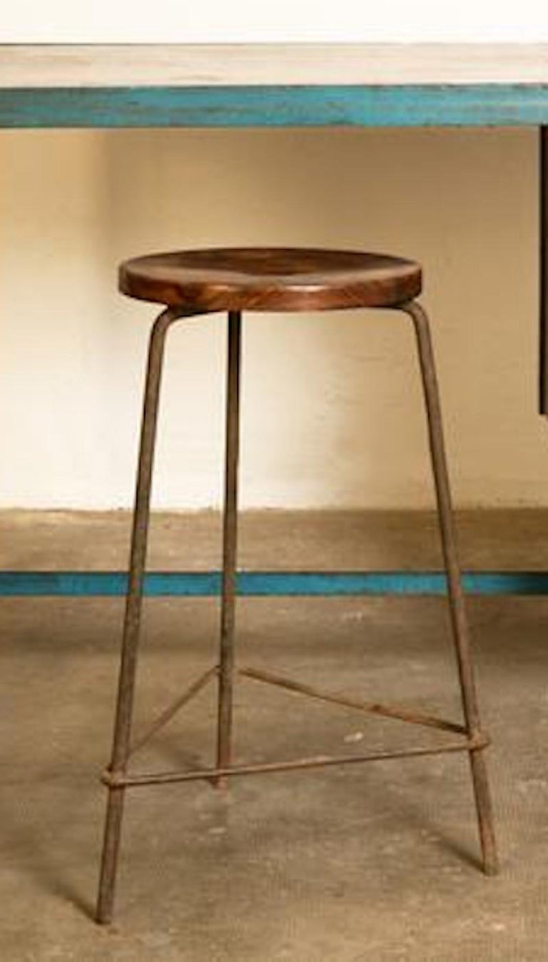 Pierre Jeanneret, Stool from High Court of Chandigarh, circa 1955-1956 In Good Condition For Sale In New York, NY