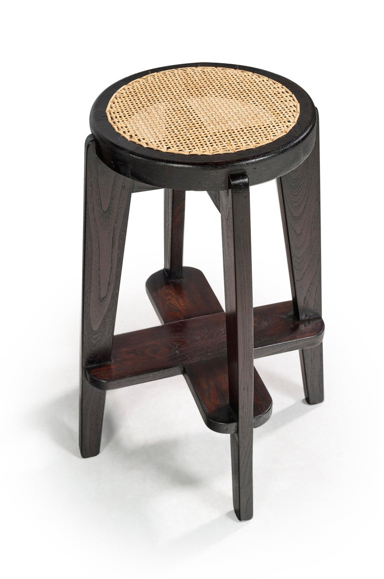Indian Pierre Jeanneret, Stools, a Pair, circa 1965 For Sale