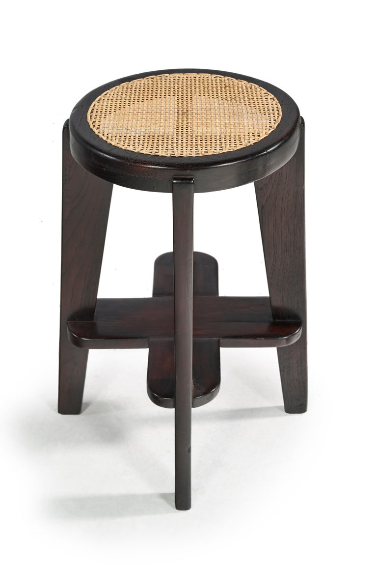 Pierre Jeanneret, Stools, a Pair, circa 1965 In Good Condition For Sale In Paris, FR