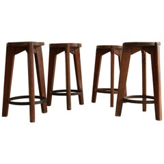 Pierre Jeanneret, Stools from Punjab University, circa 1965