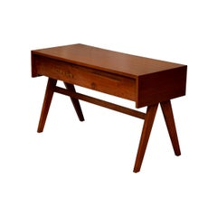 Pierre Jeanneret Student Desk with Rare Triple Original Lettering